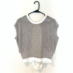 Striped blouse with open back